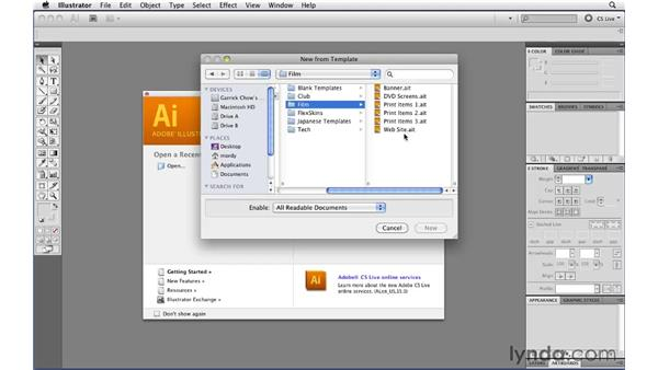 Using prebuilt templates: Illustrator CS5 Essential Training