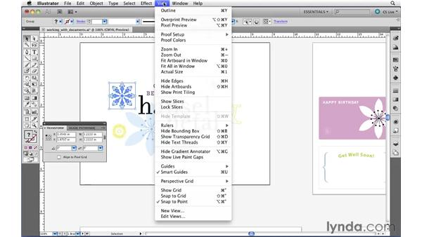 Using rulers and guides: Illustrator CS5 Essential Training