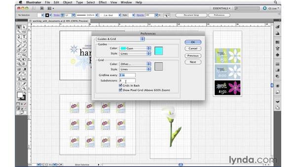 Using grids: Illustrator CS5 Essential Training
