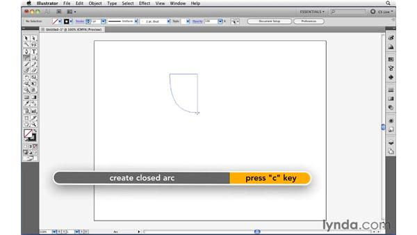 Drawing open path primitives: Illustrator CS5 Essential Training