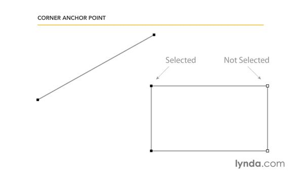 Understanding anchor points: Illustrator CS5 Essential Training