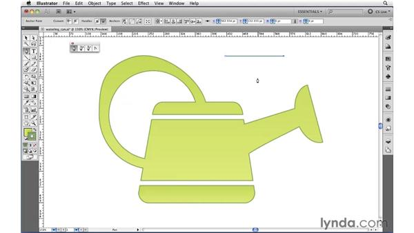 Editing anchor points: Illustrator CS5 Essential Training