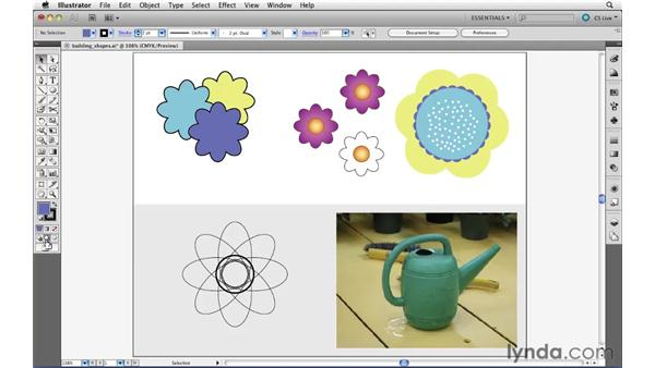 The Draw Inside and Draw Behind modes: Illustrator CS5 Essential Training