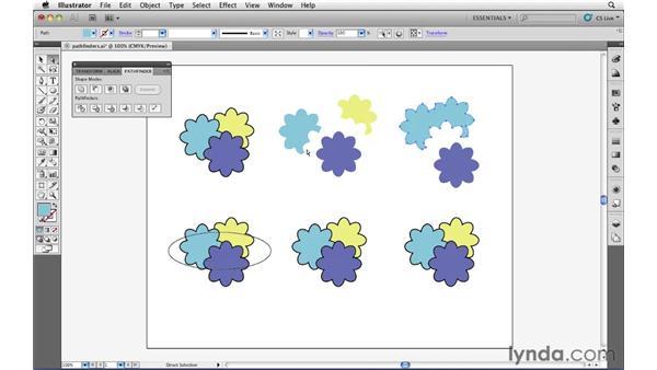 Using Pathfinder functions: Illustrator CS5 Essential Training
