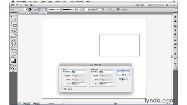 Splitting an object into a grid: Illustrator CS5 Essential Training