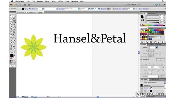 Add type to your logo: Illustrator CS5 Essential Training