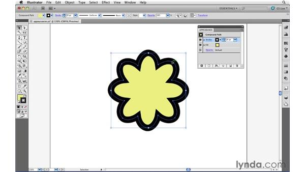 Using the Appearance panel: Illustrator CS5 Essential Training