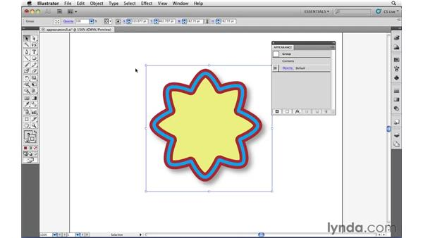 Expanding appearances: Illustrator CS5 Essential Training