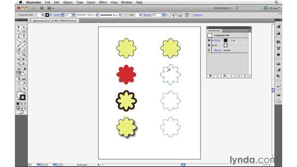 Copying appearances: Illustrator CS5 Essential Training