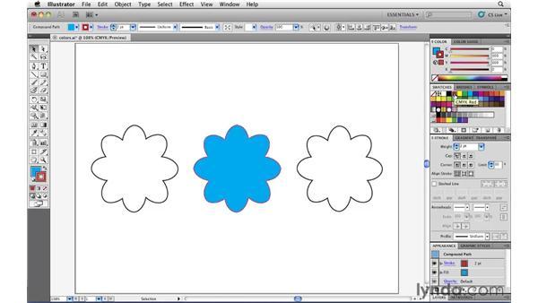 Applying color to artwork: Illustrator CS5 Essential Training