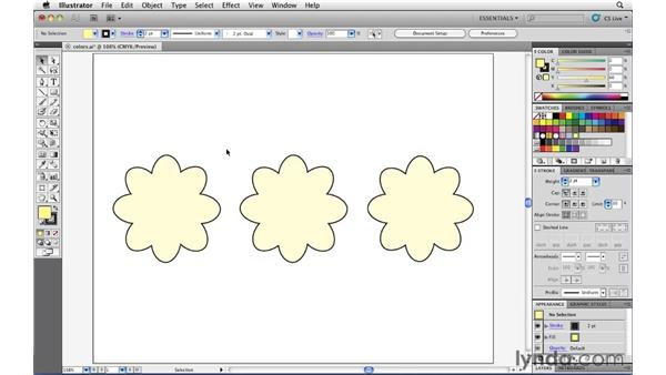 Creating process and global process swatches: Illustrator CS5 Essential Training