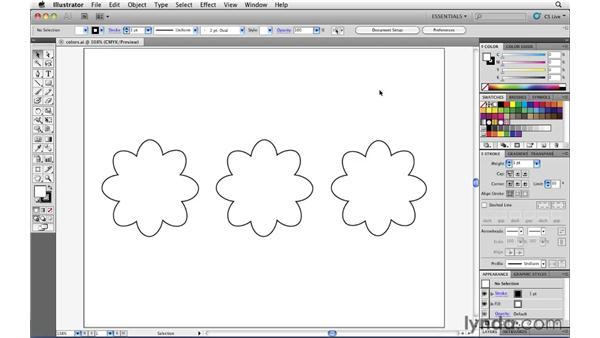 Creating spot color swatches: Illustrator CS5 Essential Training
