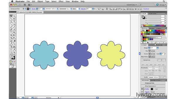 Organizing colors with Swatch Groups: Illustrator CS5 Essential Training