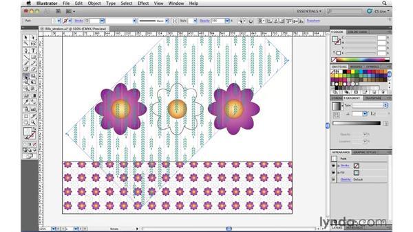 Applying and manipulating pattern fills: Illustrator CS5 Essential Training