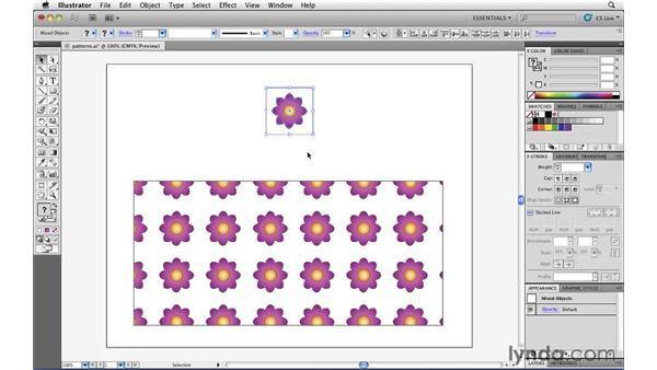 Defining your own custom pattern fills: Illustrator CS5 Essential Training