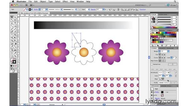 Adding arrowheads to strokes: Illustrator CS5 Essential Training