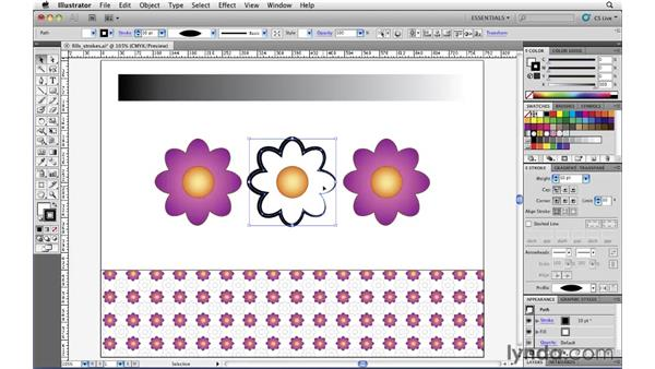 Working with width profiles: Illustrator CS5 Essential Training