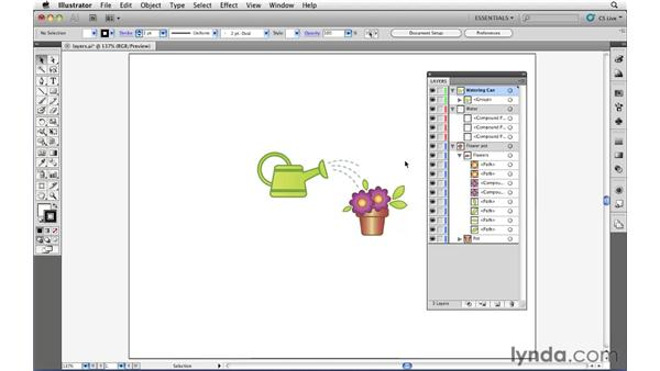 The importance of using layers: Illustrator CS5 Essential Training