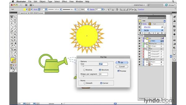 "Using and ""reading"" the Layers panel: Illustrator CS5 Essential Training"