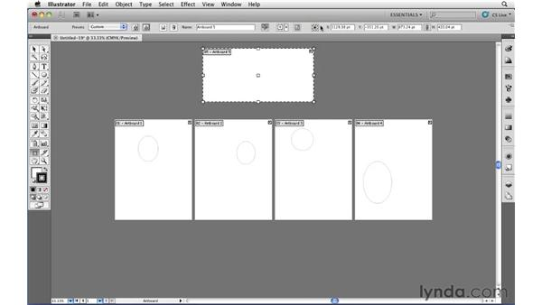 Creating and using multiple artboards: Illustrator CS5 Essential Training
