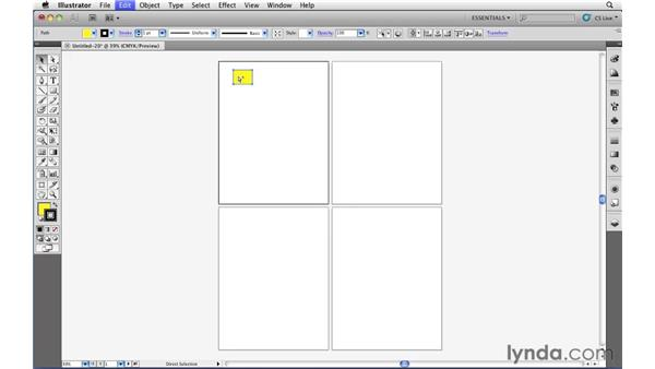 Copy and paste options with Artboards: Illustrator CS5 Essential Training