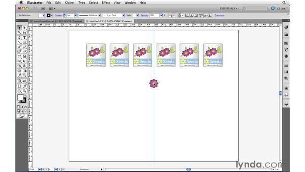 Repeating transformations: Illustrator CS5 Essential Training