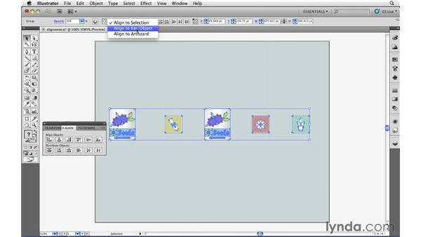 Aligning objects and groups precisely: Illustrator CS5 Essential Training