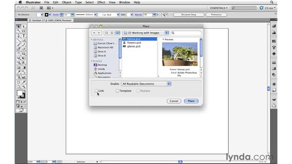 Placing pixel-based content into Illustrator: Illustrator CS5 Essential Training