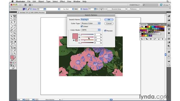 Controlling colors in Live Trace: Illustrator CS5 Essential Training