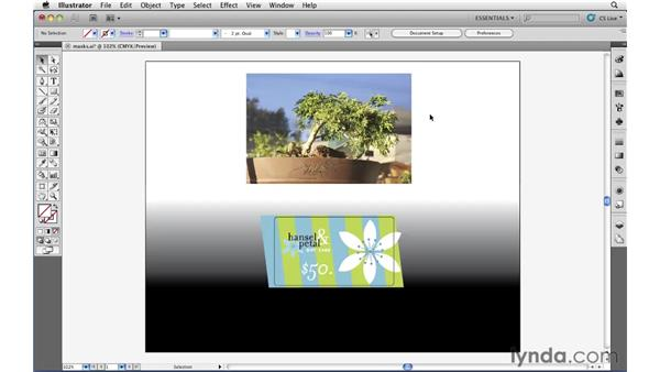 Cropping photographs: Illustrator CS5 Essential Training