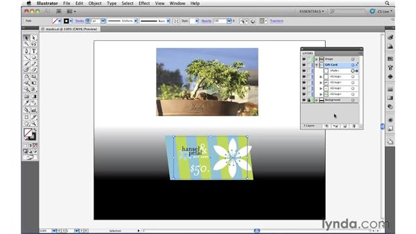 Clipping the contents of a layer: Illustrator CS5 Essential Training