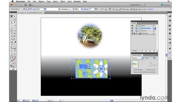 Defining masks with soft edges: Illustrator CS5 Essential Training