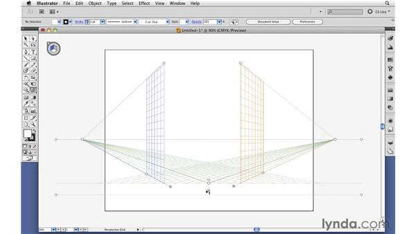 Defining a perspective grid: Illustrator CS5 Essential Training