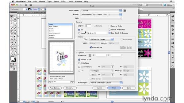 Printing your Illustrator document: Illustrator CS5 Essential Training