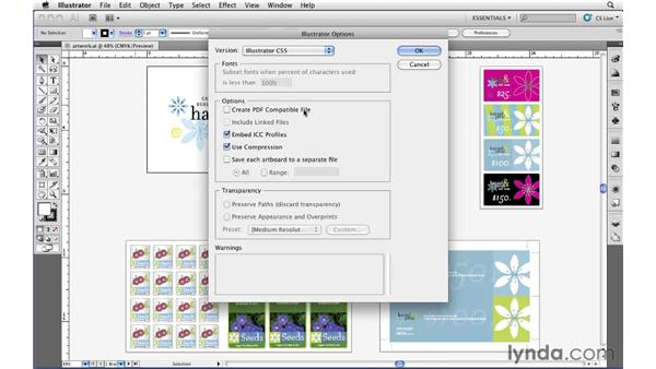 Saving your Illustrator document: Illustrator CS5 Essential Training