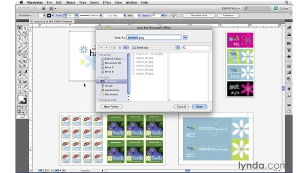 Exporting Illustrator files for use in Microsoft Office: Illustrator CS5 Essential Training