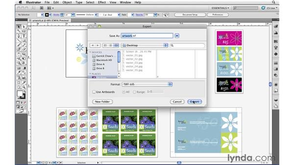 Exporting high-resolution raster files: Illustrator CS5 Essential Training