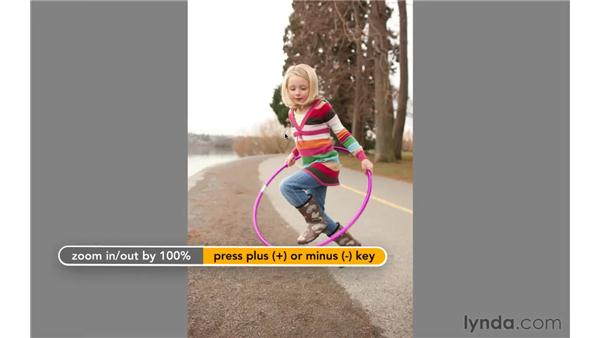 Viewing images in Full Screen Preview mode: Photoshop CS5 Essential Training