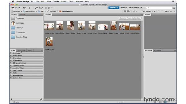 Protecting the keepers by saving them in collections: Photoshop CS5 Essential Training