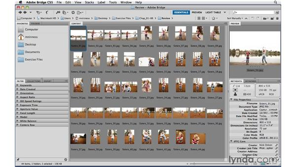 Rating images: Photoshop CS5 Essential Training