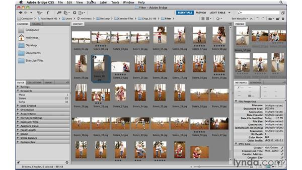 Organizing groups of images into stacks: Photoshop CS5 Essential Training