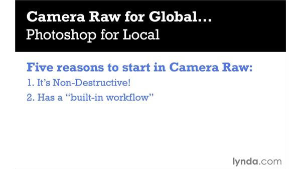 Why you should start in Camera Raw instead of Photoshop: Photoshop CS5 Essential Training
