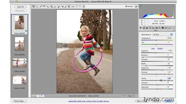Processing multiple files in Camera Raw: Photoshop CS5 Essential Training