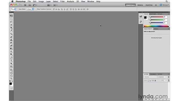Opening files from Mini Bridge: Photoshop CS5 Essential Training