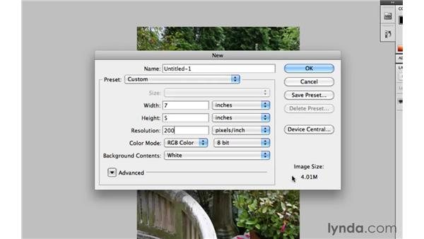 What resolution does your image need to be?: Photoshop CS5 Essential Training