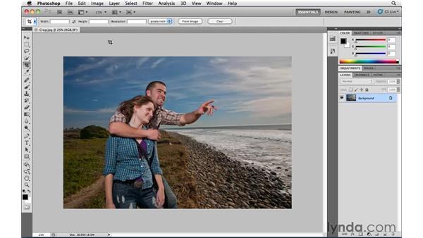 Crop options: Photoshop CS5 Essential Training
