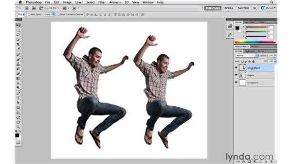 Nondestructive transformations with Smart Objects: Photoshop CS5 Essential Training