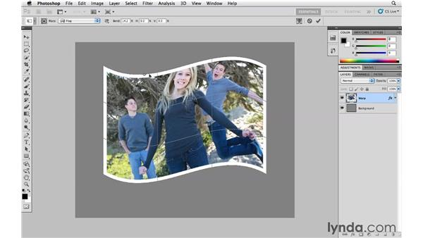 Warping images: Photoshop CS5 Essential Training