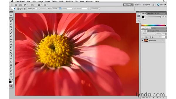 Quick Mask is your friend: Photoshop CS5 Essential Training