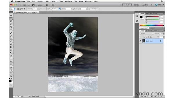 Re-selecting a previous selection: Photoshop CS5 Essential Training